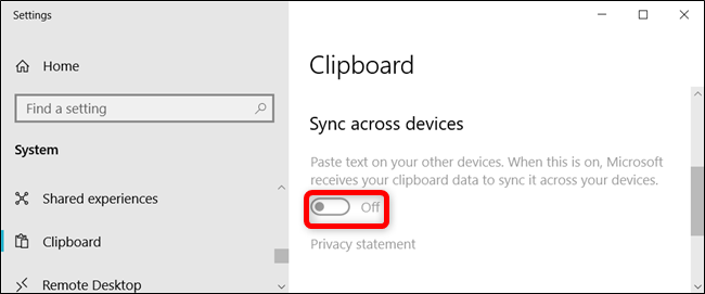 The setting is greyed out and users aren't able to turn it on.